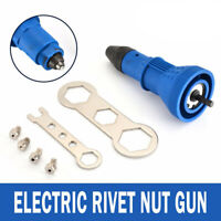 Rivet Gun Adaptor for Cordless Drill Electric Nut Riveting Tool Riveter Insert