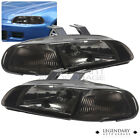 For 92-95 Civic Ej Hatchback Coupe Replacement 1pc Jdm Headlight Pair Smoke Lens