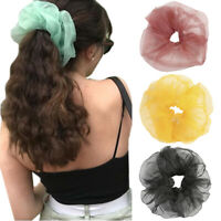 Women Fashion Scrunchies Ponytail Hair Holder Hair Accessories Large Rubber New