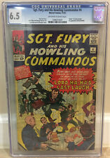 SGT. FURY AND HIS HOWLING COMMANDOS #4 CGC 6.5 DEATH OF J JUNIPER 1ST PAM HAWLEY