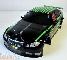 RC Auto Karosserie BMW schwarz/grün ca. 43 x 18 x 11,5 cm Maßstab 1:8 1:10
