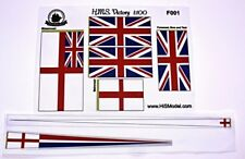 Heller HMS Victory - set of flags and Draft scales for model, 1:100