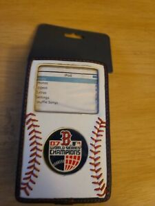 New Gamewear iSeam Boston Red Sox 07 World Serie Baseball Leather iPod Nano Case
