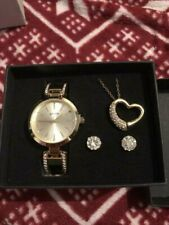 Sutton By Armitron Ladies Gold Tone Watch And Jewelry Set