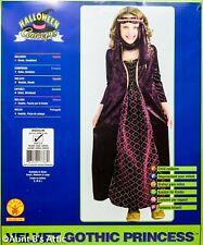 Renaissance Princess Costume 2 Pc Burg/Purple Velour Child Costume Dress Md
