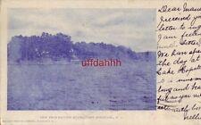 pre-1907 VIEW FROM RACCOON ISLAND. LAKE HOPATCONG, NJ 1906