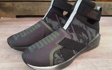 Womans PUMA Fierce slip on high top tennis shoes, size 7, black, NWOT