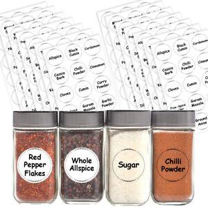 Spice / Herb Storage Pantry Container Jar Labels Kitchen Stickers Waterproof