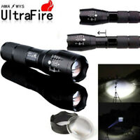 Ultrafire 90000lm T6 LED Zoomable 5-Modes Tactical 18650 Flashlight Focus Torch.
