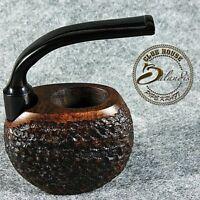 D.BALANDIS Hand Made Carved BRIAR wood POCKET Tobacco Smoking pipe VINTAGE brown