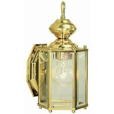 DESIGN HOUSE 501833 AUGUSTA OUTDOOR  ~ SOLID BRASS FINISH W/ CLEAR BEVELED GLASS