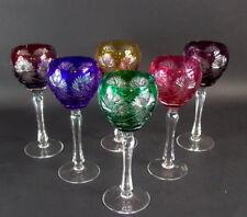 - 6 - farbige Kristall Römer - 21cm -  sehr schön