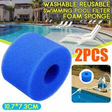 2x Para Intex Pure Spa Lavable Filtro Espuma Cartucho de Gomaespuma (S1) Tipo