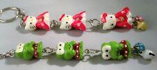Vintage RARE Hello Kitty & Keroppi Frog Keychain Ornament Purse Bag Charm Clip
