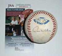BREWERS Paul Molitor signed 1980 All-Star Game baseball JSA COA AUTO Autographed