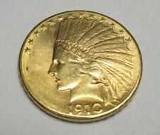 1910 D $10 Ten Gold Indian Eagle Lot 156