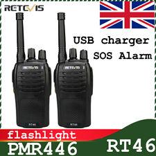 2*Retevis Walkie Talkie two way Radio PMR446 RT46 SOS alarm 16CH>H777 long range