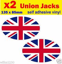 2 England Union Jack Flag decals car caravan campervan sticker bike dub Scooter