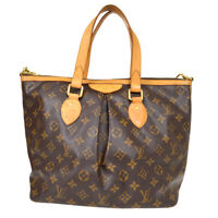 LOUIS VUITTON PALERMO PM 2WAY HAND TOTE BAG PURSE MONOGRAM M40145 SR1018 70413