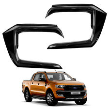 Front Side Bumper Guard Cover Black 2 Pc For Ford Ranger T6 2015 - 2017