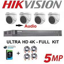 HIKVISION 5MP CCTV SYSTEM 4CH 5 MP CAMERA INDOOR OUTDOOR 4X DOME TURRET 1TB
