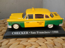 1:43 CHECKER  TAXI San Francisco 1980 Bay Area Cab 799 Taxi Giallo California