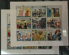 """Belgique, België, 2 Blocs de timbres """" BD """" neufs MNH, bien"""