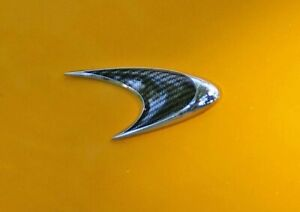 New and genuine McLaren Speed Mark front badge CARBON emblem on MP4-12C and P1