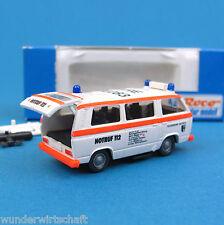 Roco H0 1372 VW T3 BABY-NOTARZT Feuerwehr Datteln RTW NAW HO 1:87 Volkswagen