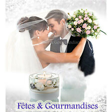 Bougeoir centre de table mariage alliances decoration table  cadeau bougie