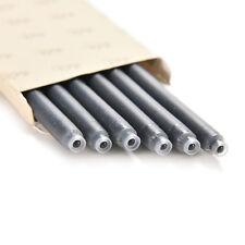 NEW 6pcs black Fountain Pen Ink Cartridges Refills TOCA