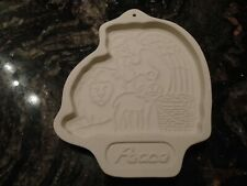 Longaberger Pottery Cookie Mold ~ Peace ~ 1993 ~ Angel Lion Unused