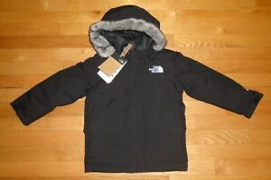 The North Face Boys McMurdo Jacket Black Goose Down Parka Toddler 2T 3T 4T 5T