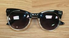 Genuine Betsy Johnson Black & Clear Trim Women's Fashion Sunglasses **READ**