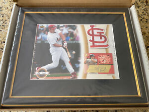 2003 UD AUTHENTICS AUTO FRAMED 11x14 SCOTT ROLEN 88/100 AND ROOKIE GAME USED LOT
