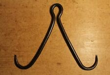 Antique Style Wrought Iron Gambrel Butchers Game Hook Meat Beam Handmade