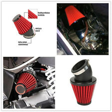 Pair 42MM Motorcycle 45 Degree Bend Air Intake Filter Cleaner For Dirt Bike Red