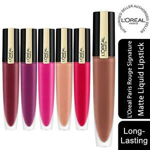L'Oreal Paris Rouge Signature Matte Liquid Lipstick, Choose Your Shade