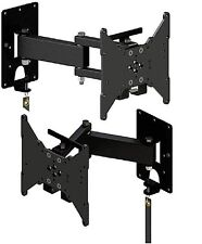 DOUBLE ARM TV MOUNT WITH CENTER LOCK, RV, HOME  THIN DESIGN UP TO 200X200 -F