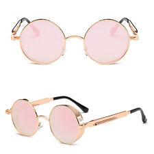 2017 Steampunk Sunglasses Mens Brand Design Round Sun glasses Women