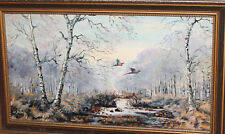 European oil painting forest landscape signed