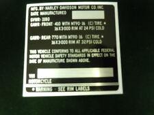 OEM Harley Davidson Frame tag Genuine Original