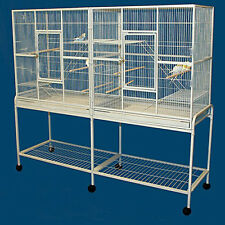 LARGE Double Flight Breeder Wrought Iron Bird Cage Cockatiel Sugar Glider 011