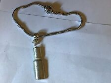 Nail Polish TG119 on a silver Rhodium Plated Snake Bracelet