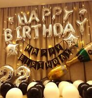 Birthday Party Decorations Set with Happy Birthday Balloons Banner (US Seller)