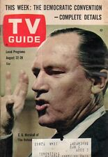 1964 TV Guide August 22-E G Marshall; Judy Carne; Rudy Vallee; George Wright
