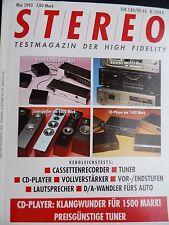 STEREO 5/93 AARON 5,LINDEMANN AMP 1.0,QUINTESSENCE ALEGRO,SYMPHONIC LINE RG 9