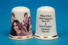 William & Kate, Harry & Meghan Engagement Photos China Thimble B/63