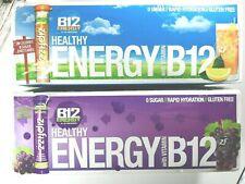 40 Tube Variety - ZipFizz B12 ENERGY Multi-Vitamin Iced Tea & Grape