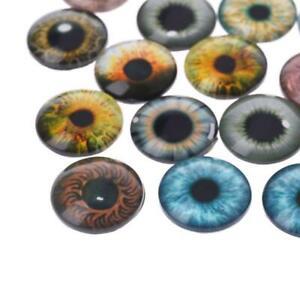 20Pcs Glass Doll Eyes Animal DIY Crafts Eyeballs For Dinosaur Eye Jewelry Making